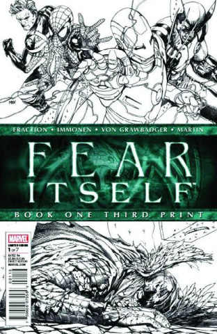Fear Itself #1 (3rd Printing Sketch Variant)