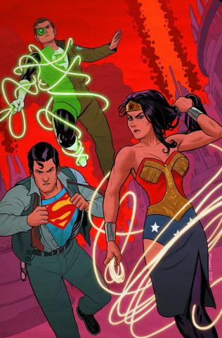 Superman / Wonder Woman #21 (Green Lantern 75th Anniversary Cover)