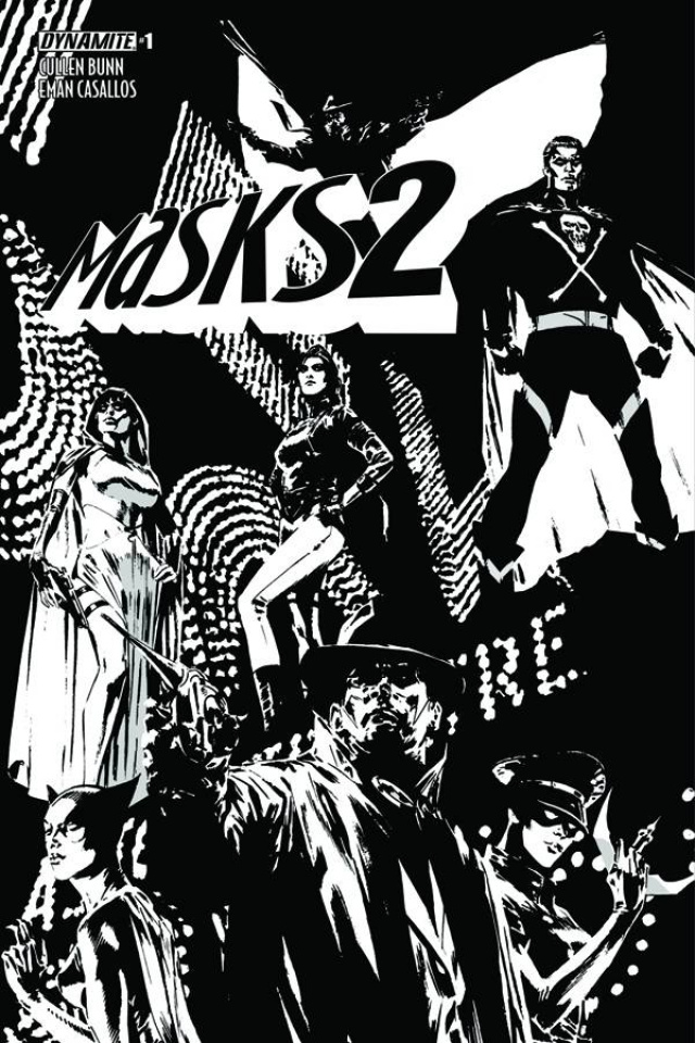 Masks 2 #1 (30 Copy Guice B&W Cover)