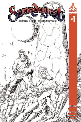 Swordquest #1 (30 Copy Perez B&W Cover)