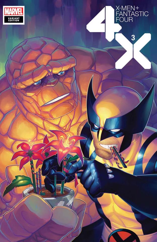 X-Men + Fantastic Four #3 (Hetrick Flower Cover)