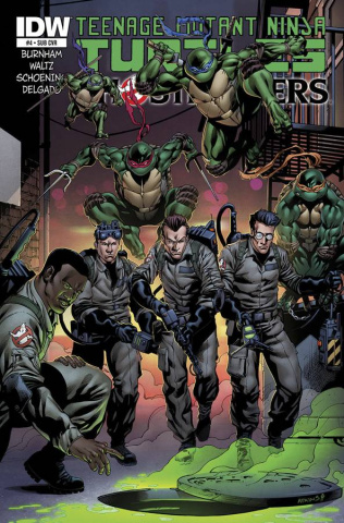 Teenage Mutant Ninja Turtles / Ghostbusters #4 (Subscription Cover)