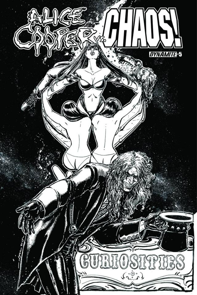 Alice Cooper vs. Chaos! #5 (15 Copy B&W Cover)