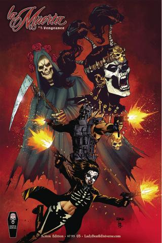 La Muerta: Vengeance #1 (Action Cover)
