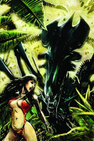 Aliens / Vampirella #4 (Rare Hardman Virgin Cover)