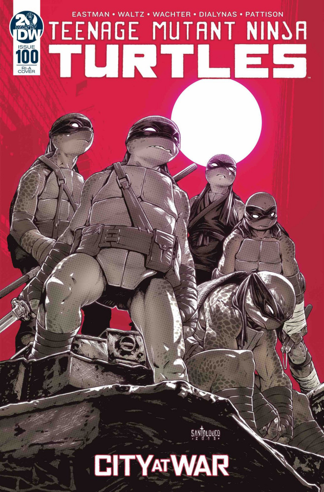 Teenage Mutant Ninja Turtles #100 (10 Copy Santolouco Cover)