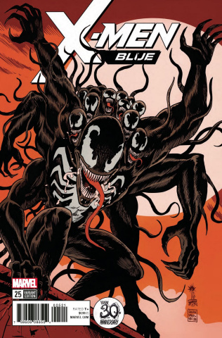 X-Men: Blue #25 (Francavilla Venom 30th Anniversary Cover)