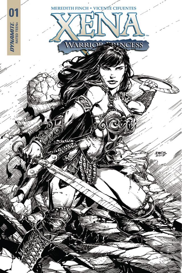 Xena #1 (25 Copy Finch B&W Cover)