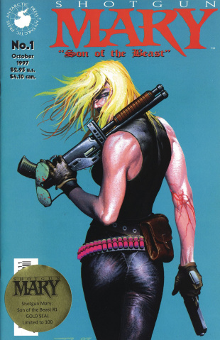 Shotgun Mary: Son of the Beast #1 (Gold Seal Cover)