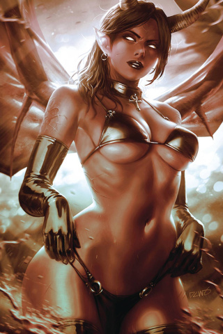 Red Sonja: Age of Chaos #4 (50 Copy Chew Monochromatic Virgin Cover)
