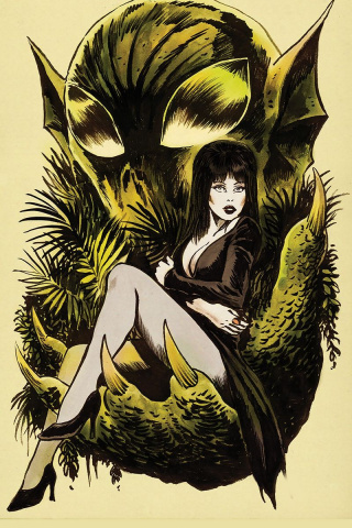 The Shape of Elvira #4 (10 Copy Francavilla Virgin Cover)