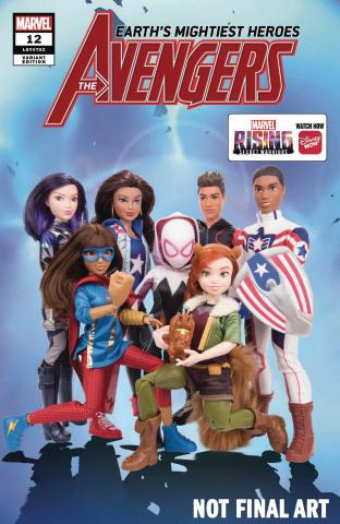 Avengers #12 (Marvel Rising Action Doll Homage Cover)
