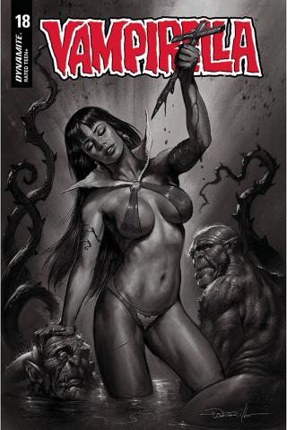 Vampirella #18 (10 Copy Parrillo B&W Cover)
