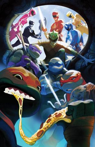 Power Rangers / Teenage Mutant Ninja Turtles #5 (Mundo Cover)