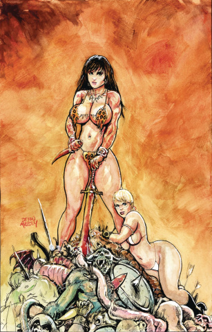 Cavewoman: A Wizard, A Sorceress, and Meriem #1 (Massey Cover)