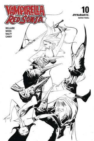 Vampirella / Red Sonja #10 (21 Copy Lee B&W Cover)