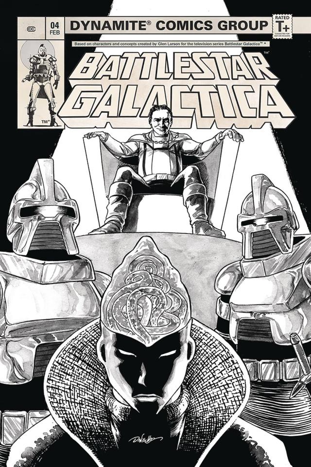 Battlestar Galactica Classic #4 (20 Copy HDR B&W Cover)