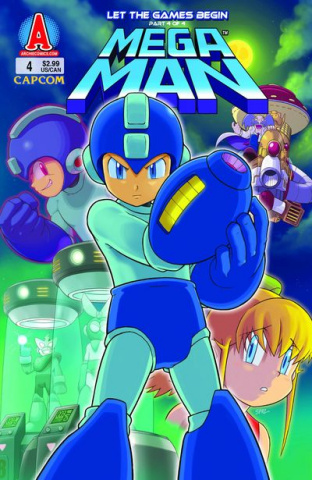Mega Man #4 (Spaz Cover)