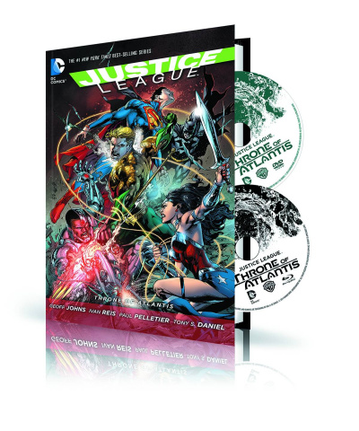 Justice League: Throne of Atlantis Book & DVD/Blu-Ray Set