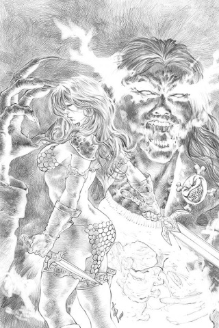 Red Sonja: Age of Chaos #5 (11 Copy Quah B&W Virgin Cover)