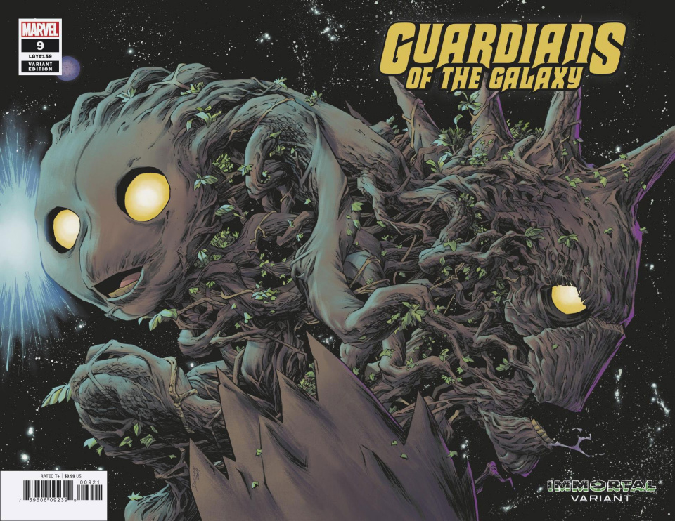 Guardians of the Galaxy #9 (Shalvey Immortal Wraparound Cover)