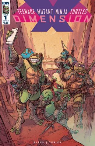 Teenage Mutant Ninja Turtles: Dimension X #1 (Tunica Cover)