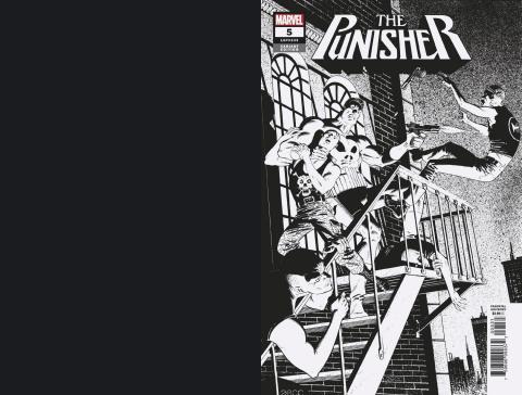The Punisher #5 (Zeck Hidden Gem B&W Cover)