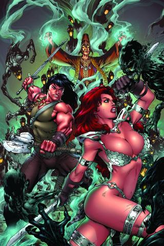Red Sonja / Conan #3 (Rare Benes Virgin Cover)