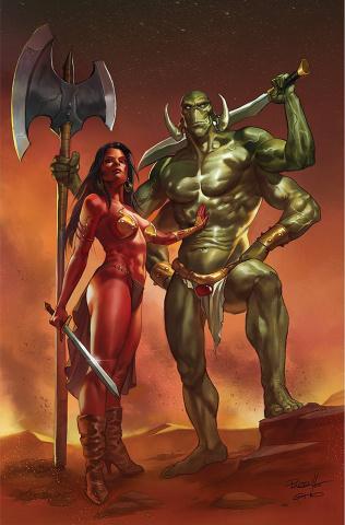 Dejah Thoris vs. John Carter of Mars #3 (Parrillo Virgin Cover)
