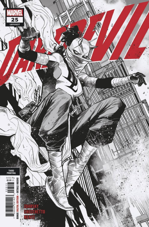 Daredevil #25 (Checchetto 3rd Printing)
