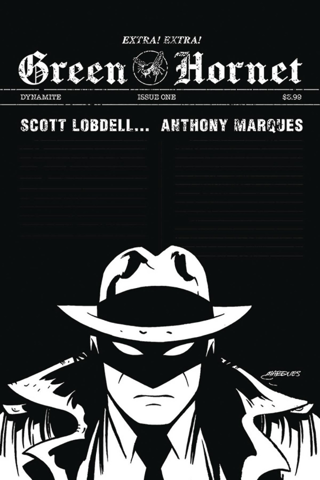 Green Hornet #1 (20 Copy Marques B&W Cover)