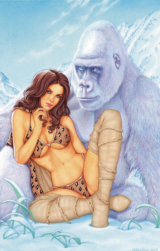 Cavewoman: Freakin' Yetis! #1 (Valentina Cover)
