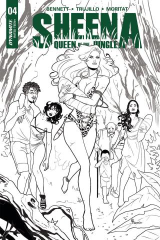 Sheena #4 (25 Copy Sanapo Virgin Cover)