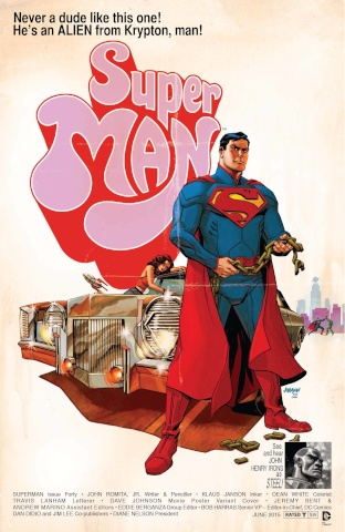 Superman #40 (Movie Poster Cover)