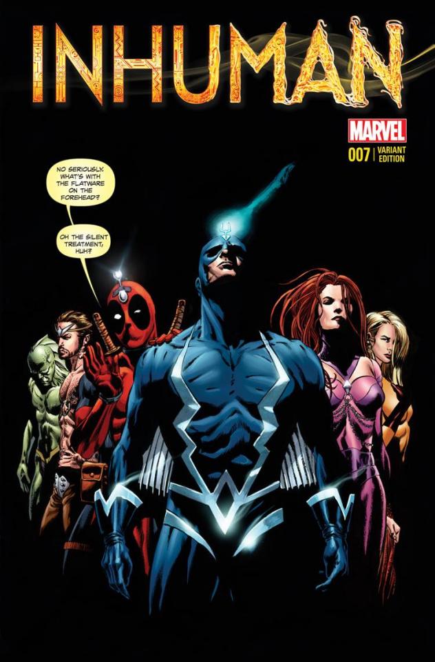 Inhuman #7 (Deadpool Cover)