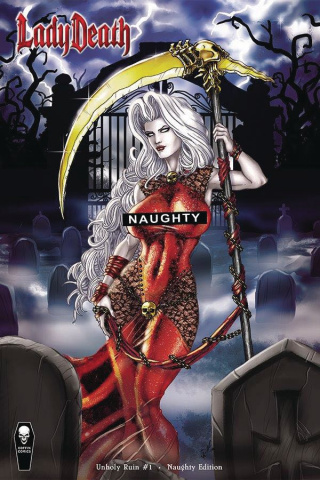 Lady Death: Unholy Ruin #1 (Naughty Cover)