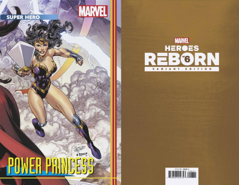 Heroes Reborn #6 (Bagley Connecting Trading Card Cover)