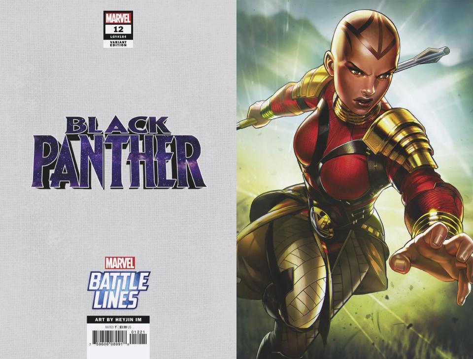Black Panther #12 (Heyjin Im Marvel Battle Lines Cover)