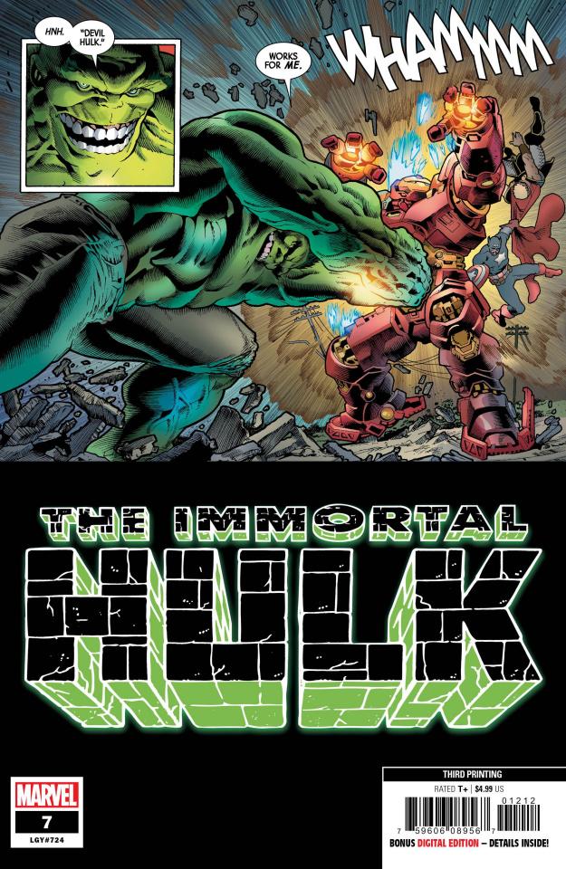 The Immortal Hulk #7 (Bennett 3rd Printing)