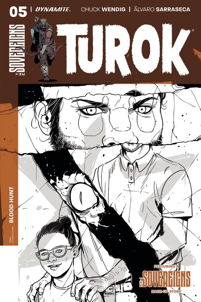 Turok #5 (10 Copy Sarraseca B&W Cover)