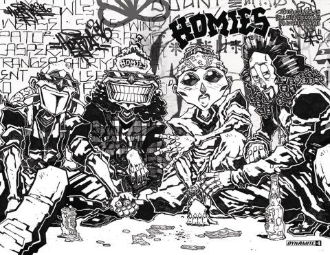 Homies #4 (15 Copy Huerta B&W Cover)