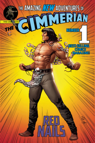 The Cimmerian: Red Nails #1 (Casas Superman Parody Cover)