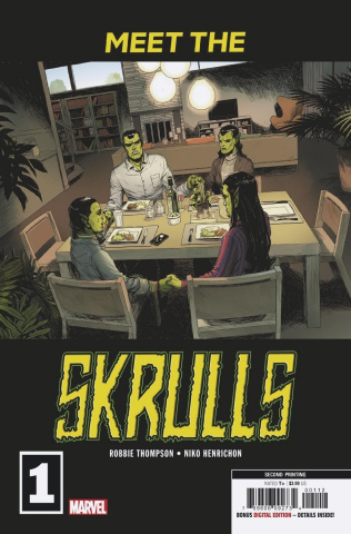 Meet the Skrulls #1 (Martin 2nd Printing)