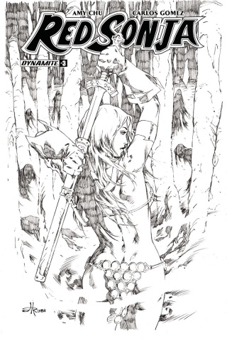 Red Sonja #3 (30 Copy Rubi B&W Cover)