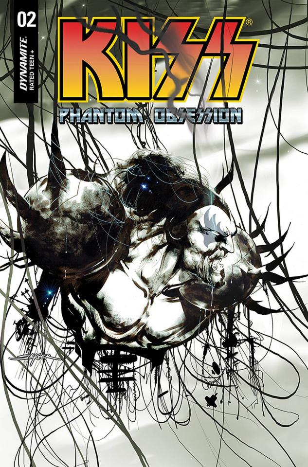 KISS: Phantom Obsession #2 (20 Copy Sayger B&W Line Art Cover)
