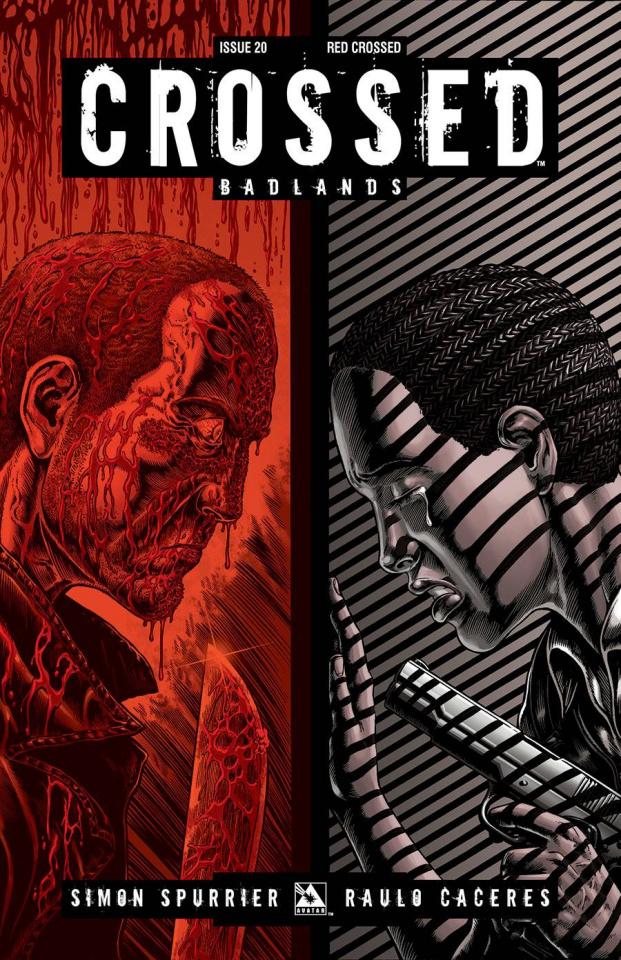 Crossed: Badlands #20 (Red Crossed Cover)