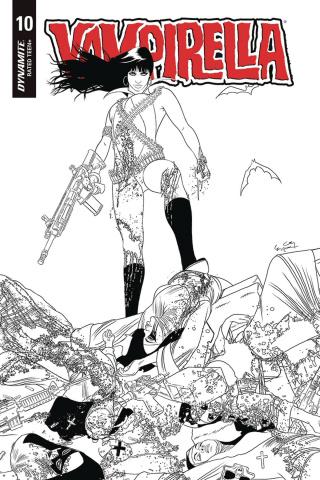 Vampirella #10 (20 Copy Gunduz B&W Cover)