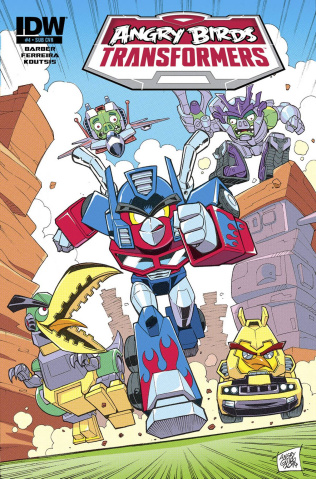 Angry Birds / Transformers #4 (Subscription Cover)