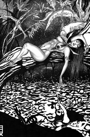 Vampirella vs. Purgatori #5 (11 Copy Fox B&W Virgin Cover)