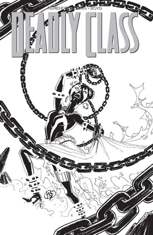 Deadly Class #28 (Spawn Month B&W Cover)